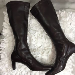 Franco Sarto Brown Pull On boots Size 8